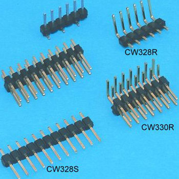 """0.100""""(2.54mm) Pitch Single Row Pin Header Connector - DIP type"""