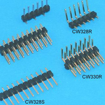 """0.100""""(2.54mm) Pitch Pin Header Connector - DIP type"""
